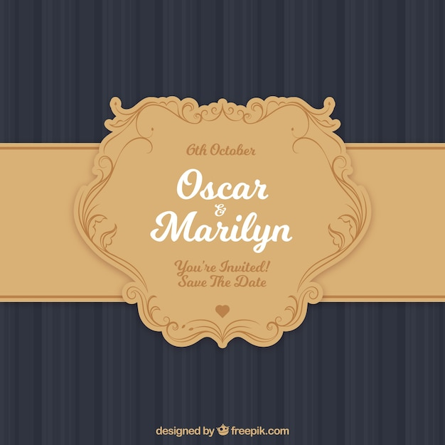 Flat wedding invitation in simple style vector free download flat wedding invitation in simple style free vector stopboris Image collections