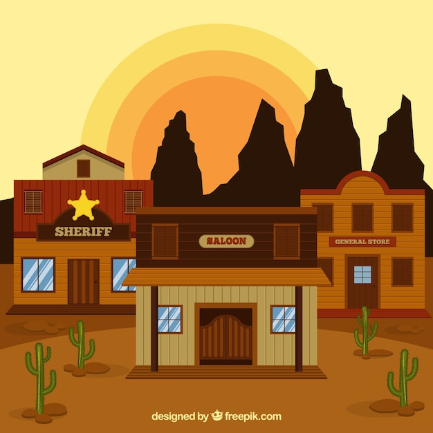 Western background clipart