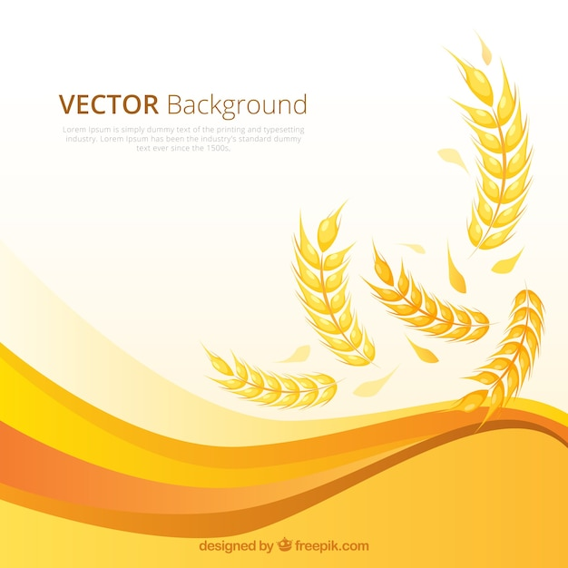 Flat wheat background Free Vector