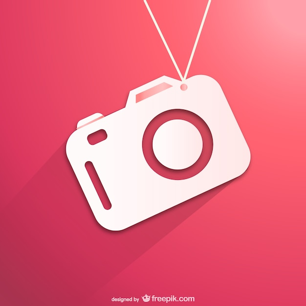Flat white camera vector free download for Immagini vector
