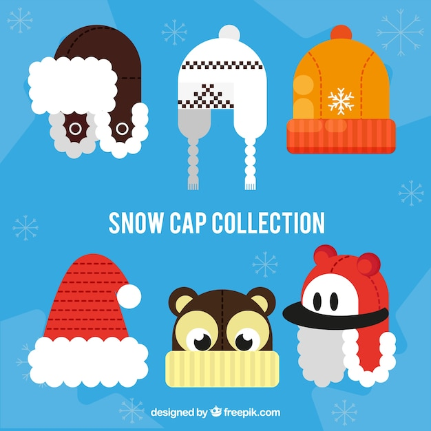 Flat winter cap collection
