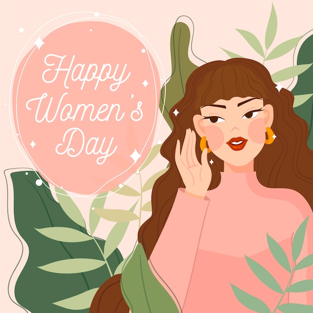 Flat women's day Free Vector