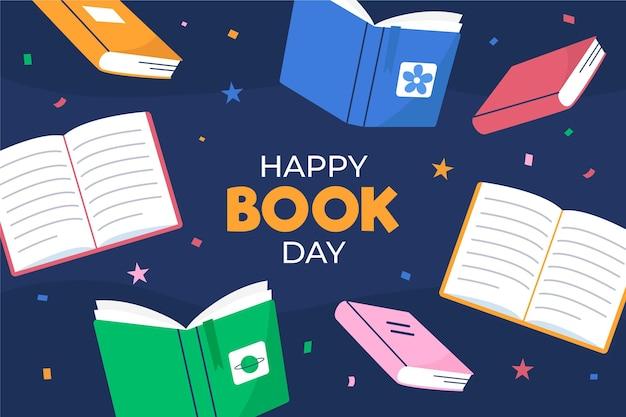 Flat world book day illustration Free Vector