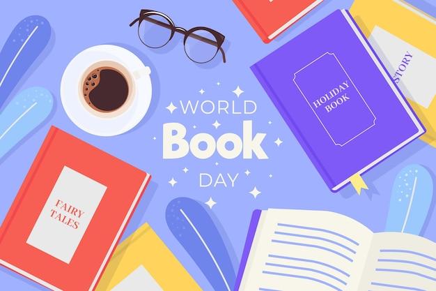 Плоский всемирный день книги Бесплатные векторы