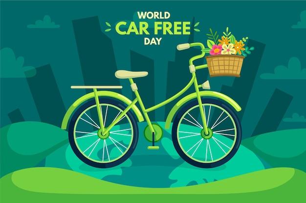 Giornata libera di auto del mondo piatto Vettore gratuito