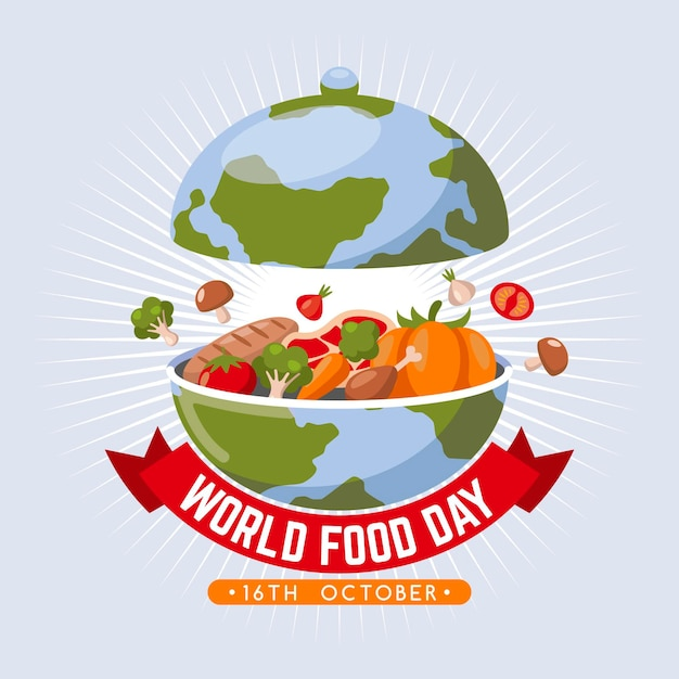 Flat world food day concept Free Vector