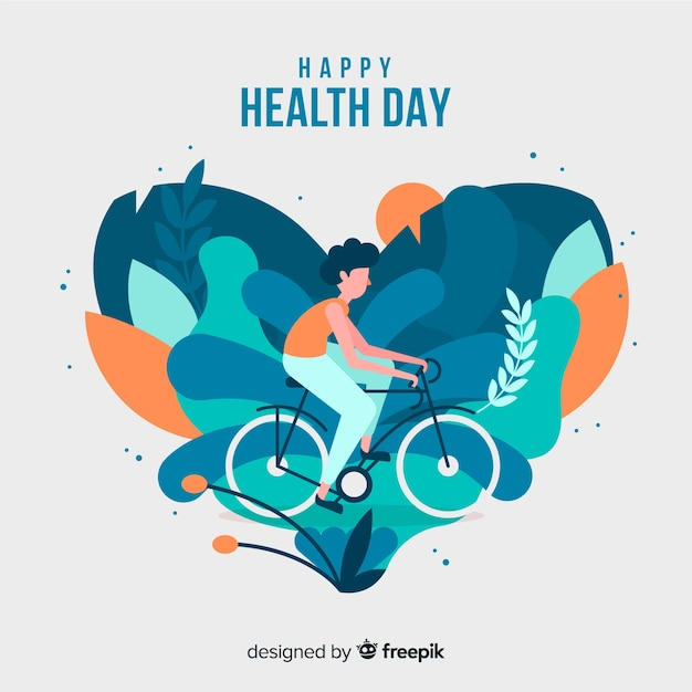 Flat world health day background Free Vector