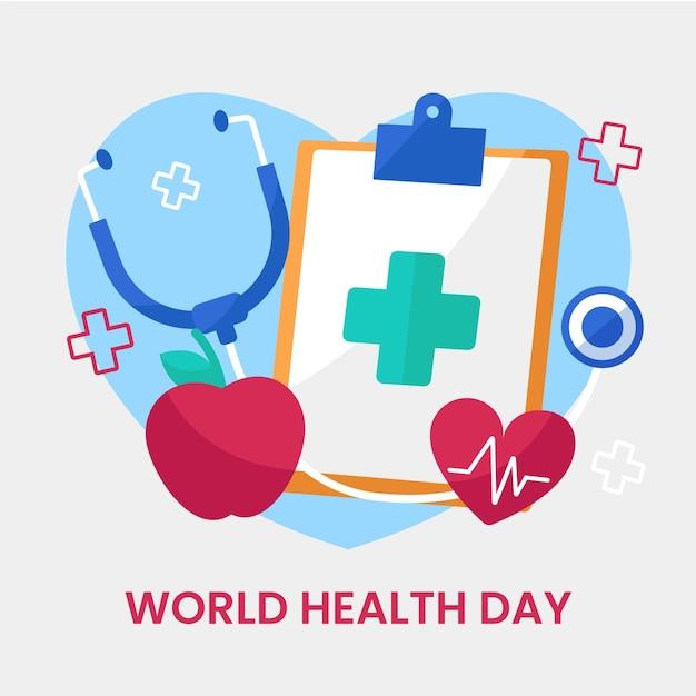 Flat world health day illustration Free Vector