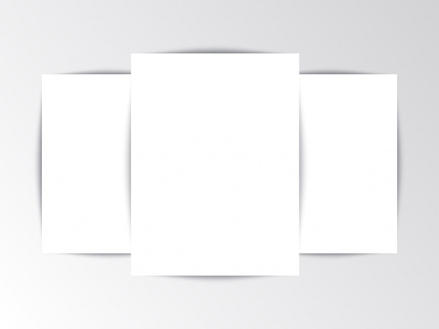 Flayer template blank leaflet on white background Premium Vector