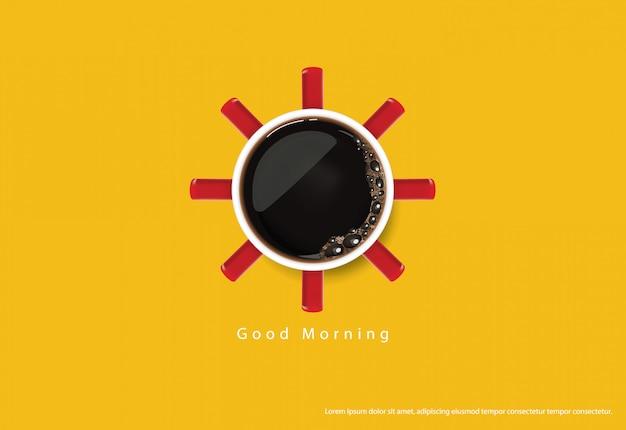 コーヒーポスター広告flayers illustration Premiumベクター