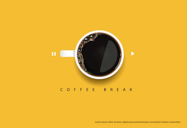 コーヒーポスター広告flayersベクトルイラスト Premiumベクター