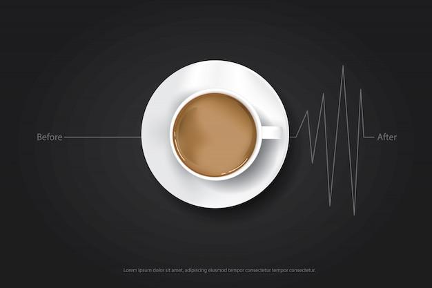 Кофейная плакатная реклама flayers Premium векторы