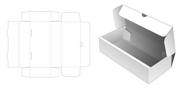 Flip bakery box die cut template Premium Vector