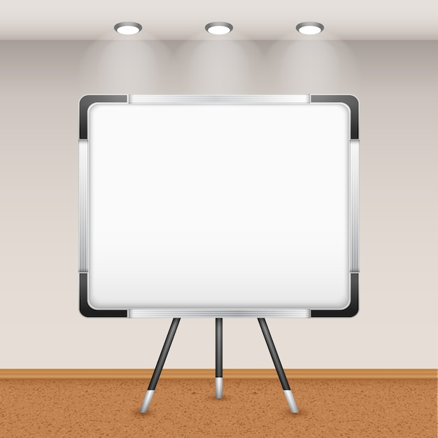 flip chart in interior vector free download