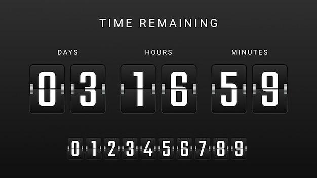 Flip countdown clock counter timer Premium Vector
