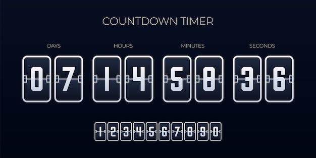 Flip countdown timer  template Premium Vector