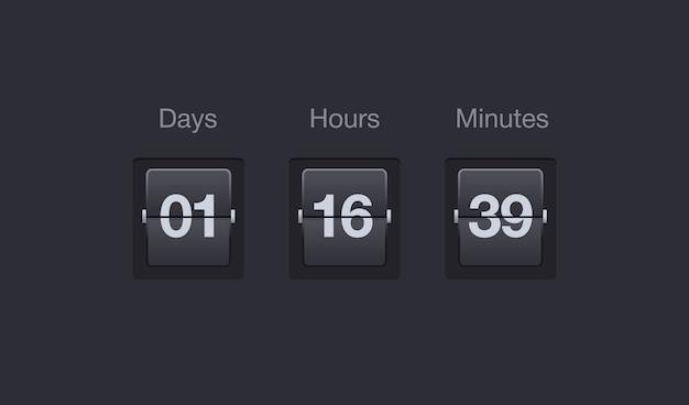 flip countdown timer premium vector