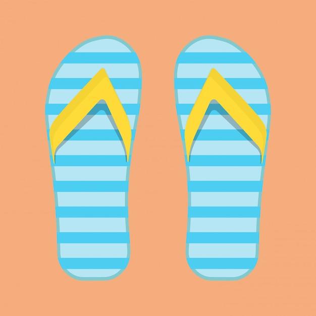 Flip flop sandals Premium Vector