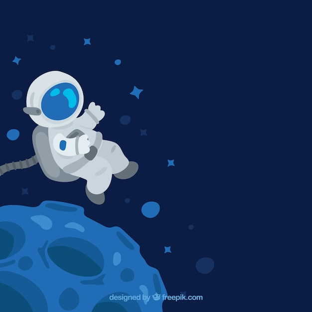 Floating astronaut bac...