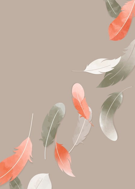 Floating feathers banner Free Vector