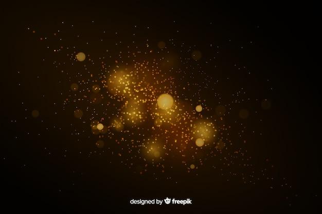 Эффект плавающих золотых частиц Бесплатные векторы