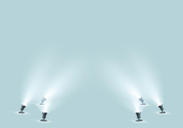 Floor spotlights for studio or stage Free Vector