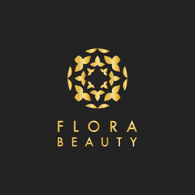 Flora beauty design logo vector Free Vector
