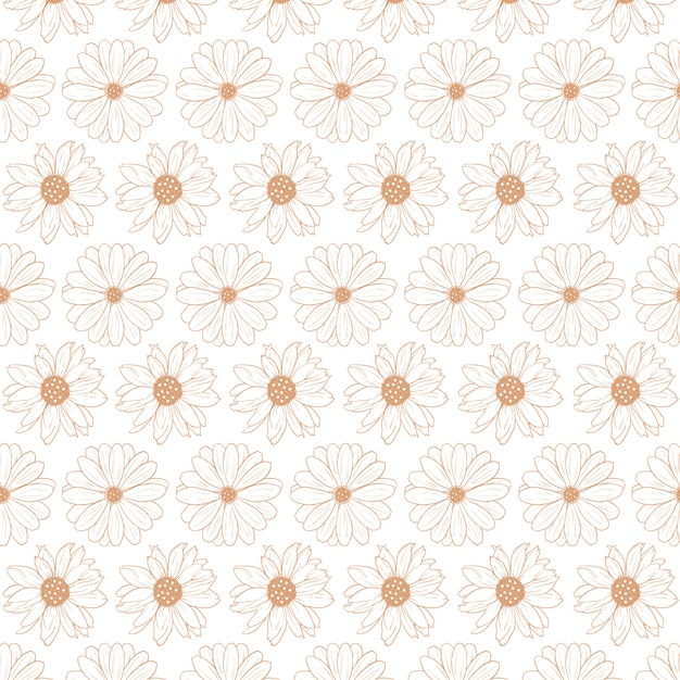 Floral abstract pattern template Premium Vector