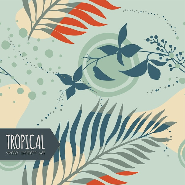 Floral  abstract seamless pattern Free Vector