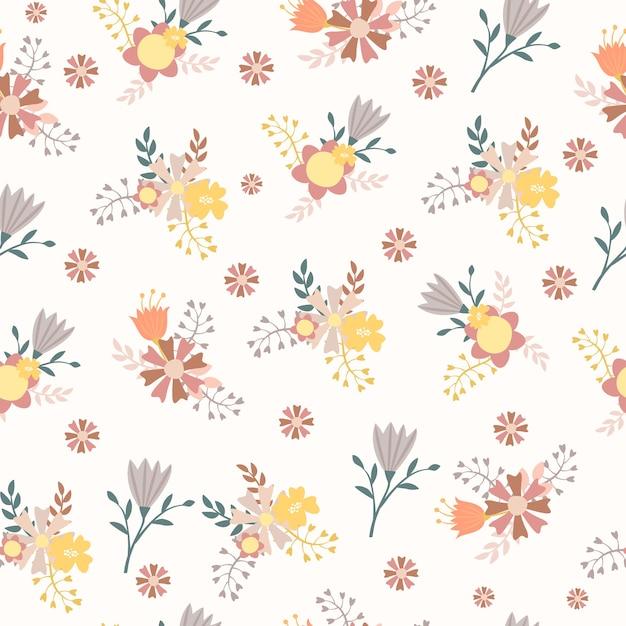 꽃 꽃이 완벽 한 패턴 무료 벡터