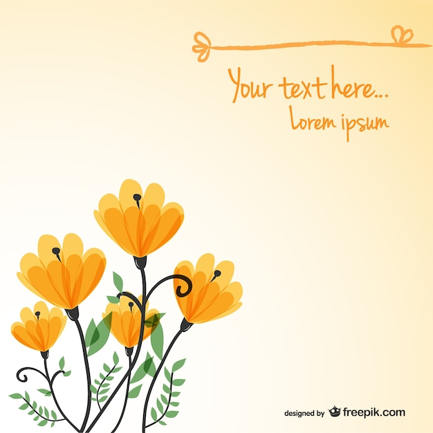 Floral background card template Free Vector