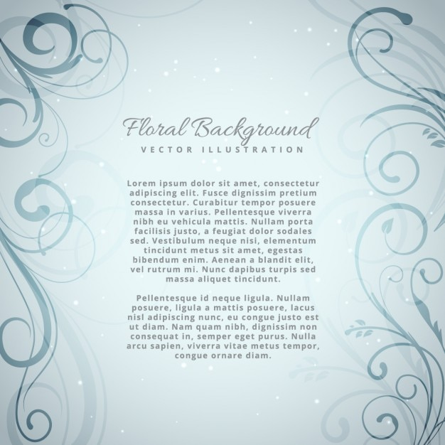 Floral background design Free Vector