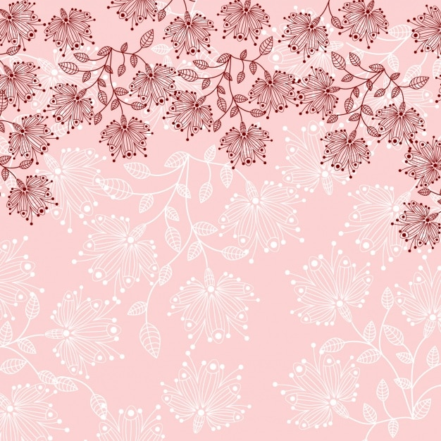 floral background design vector free download