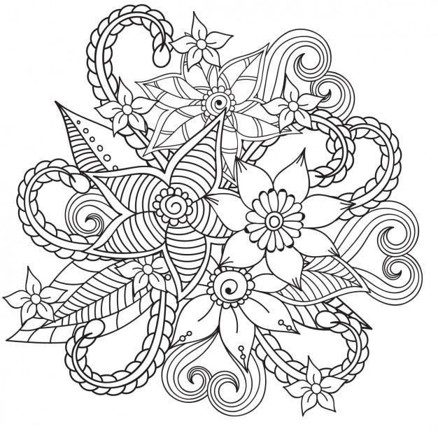 Disegno di sfondo floreale Vettore gratuito
