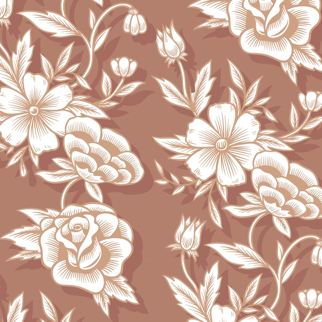 Floral background pattern Free Vector