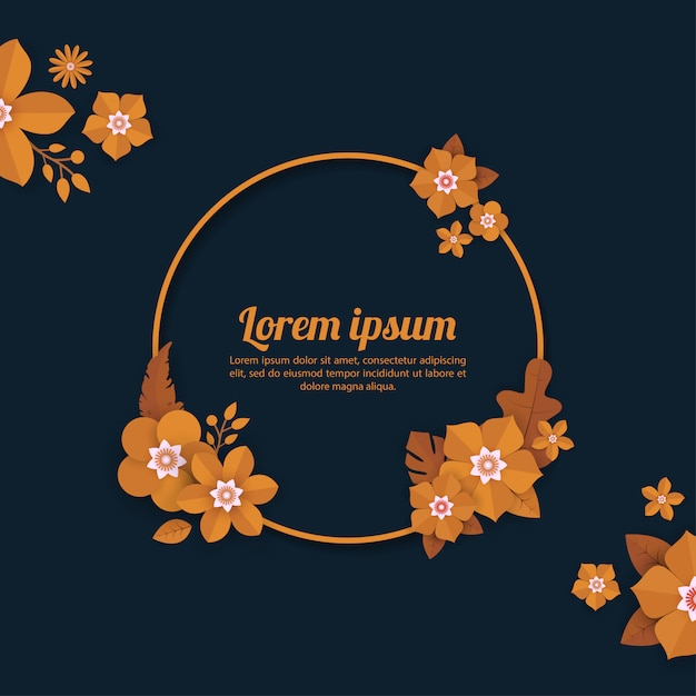 Floral background template for celebration, shopping events, holiday and greeting, invitation cards Premium Vector