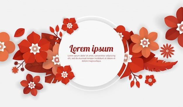 お祝い、ショッピングイベント、休日、挨拶、招待状の花の背景テンプレート Premiumベクター