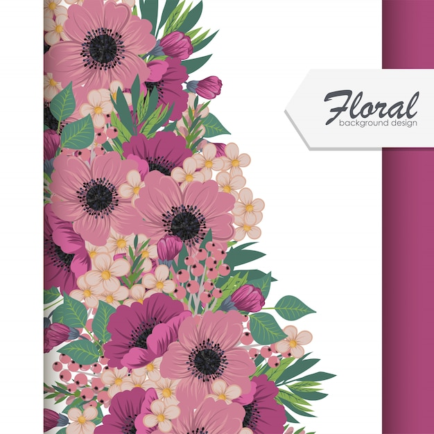 Floral background vector illustration Free Vector