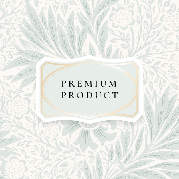 Floral background with centered frame Free Vector