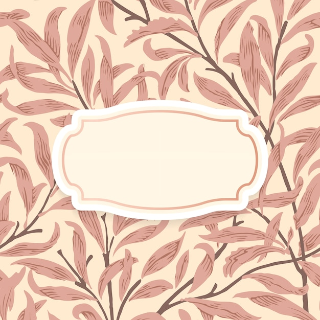 Floral background with centered ornamental frame Free Vector