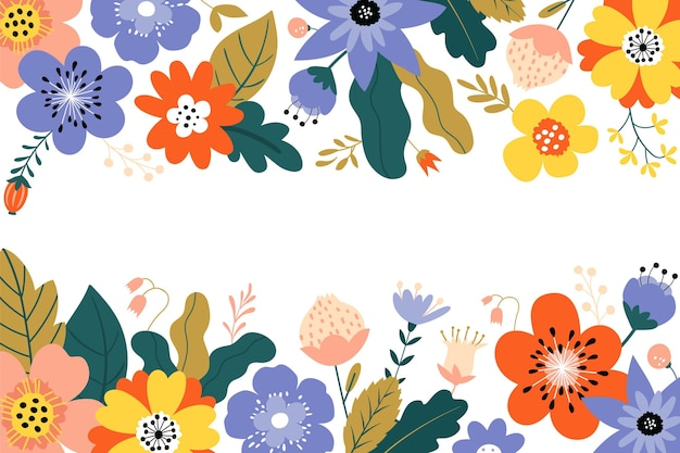 Floral background with empty space Free Vector