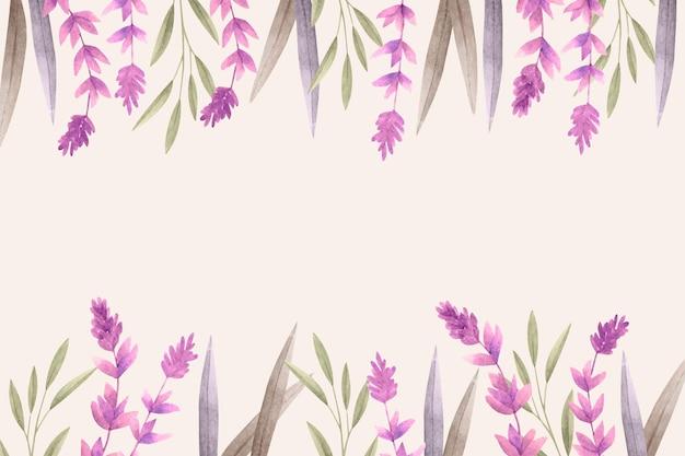 Цветочный фон с пустым пространством Бесплатные векторы