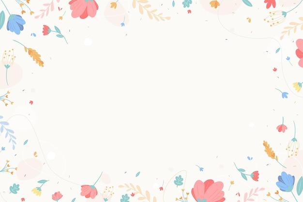 Цветочный фон с листьями Бесплатные векторы