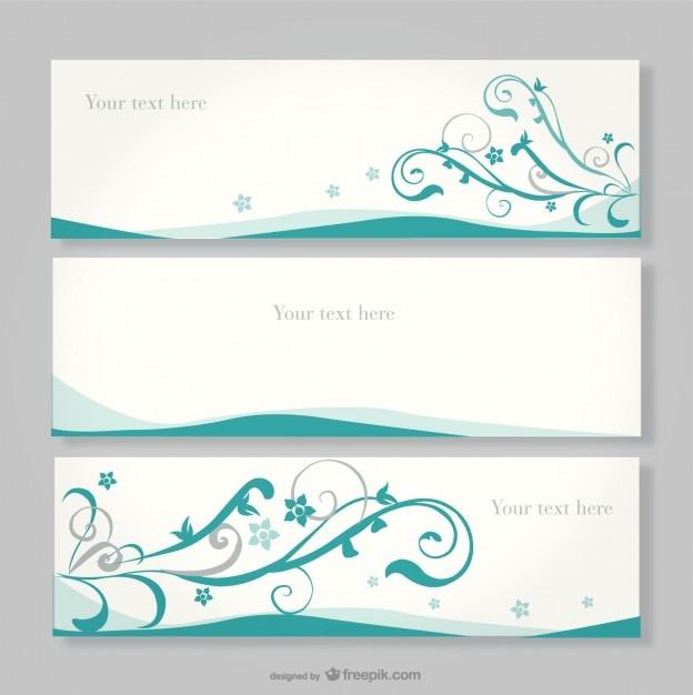 Floral banner design Vector   Free Download