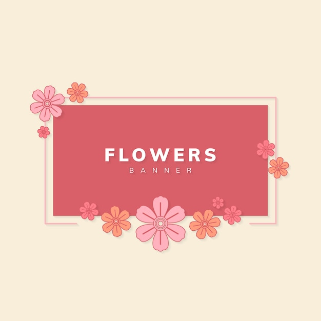 Floral banner vector Free Vector
