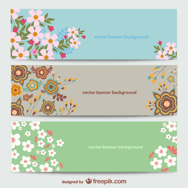 floral banners templates vector free download. Black Bedroom Furniture Sets. Home Design Ideas