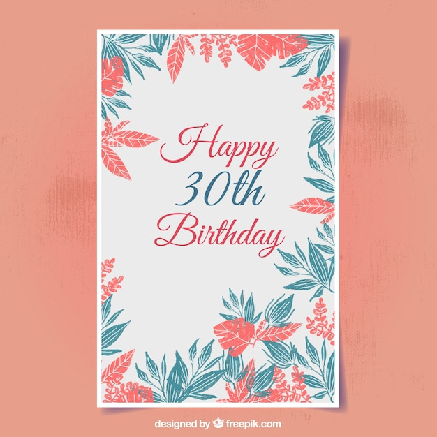 Floral birthday card vector free download floral birthday card free vector bookmarktalkfo Image collections