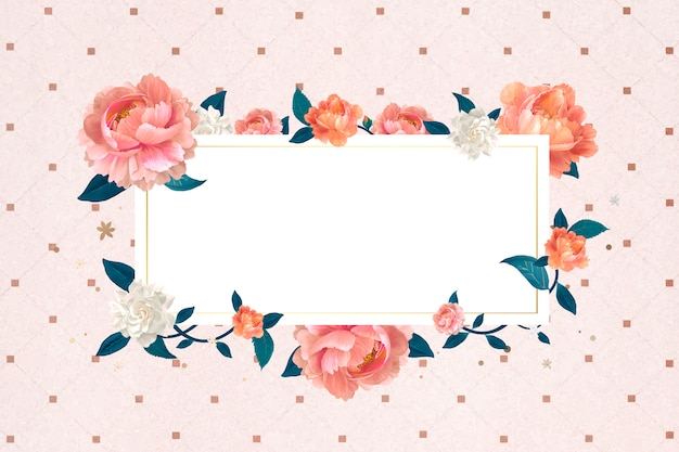 Floral blank frame Free Vector