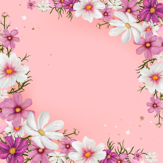Floral blank space vector Free Vector