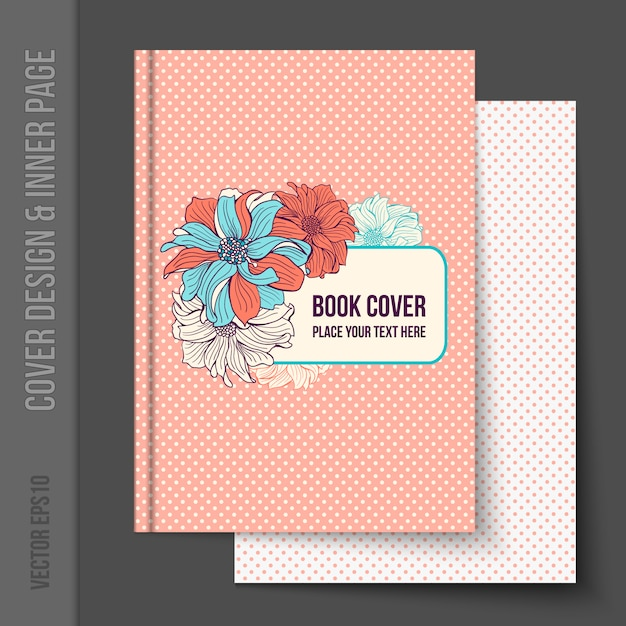 Book Cover Freepik ~ Floral book cover design vector free download